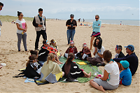 LPO enfants plage red